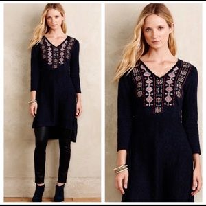 Anthro Akemi & Kin embroidered sweater tunic